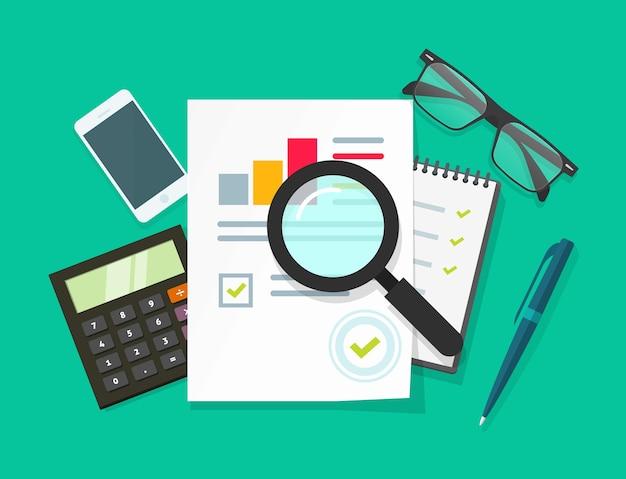 Investigación empresarial de auditoría financiera
