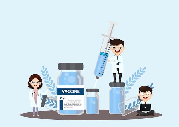 Investigación de laboratorio médico con el concepto de ilustración de tubo de vidrio de ciencia.