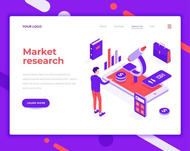 Investigación de mercado de personas e interactuar con gráficos.