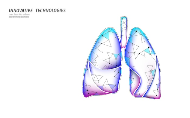Investigación microscópica de la medicina de los pulmones humanos 3d