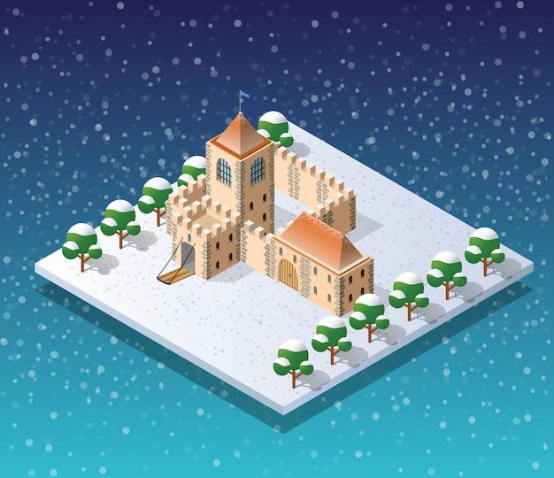 Invierno ciudad de navidad