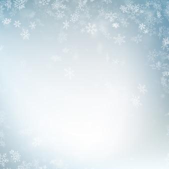 Invierno festivo fondo borroso.