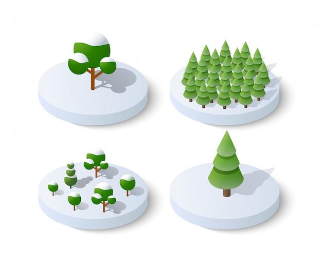 Invierno, nevoso, navidad, icono