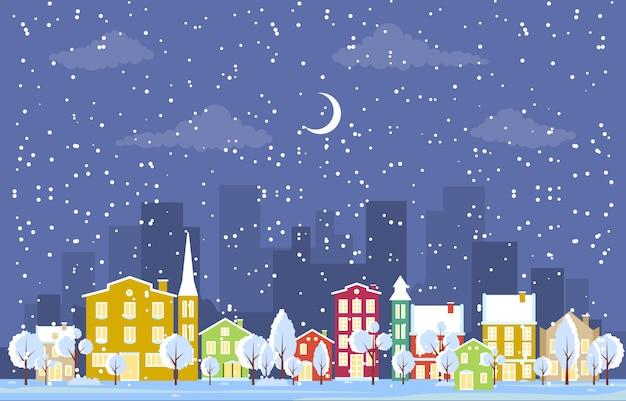 Invierno nieve en austria ciudad paisaje urbano horizonte hito edificio ilustración