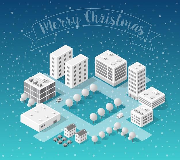 Invierno paisaje de navidad