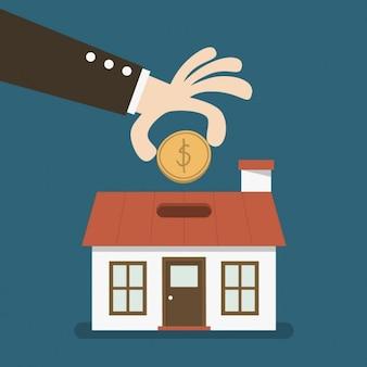 Invirtiendo dinero en una casa