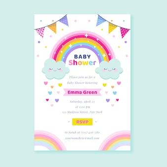 Invitación baby shower chuva de amor plana