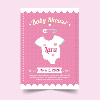 Invitación baby shower para niña