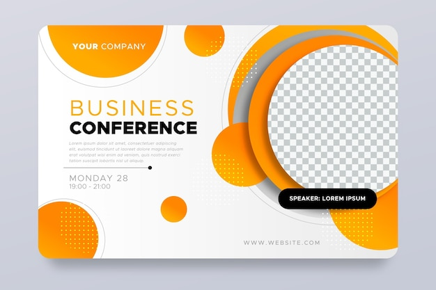 Invitación de banner de seminario web