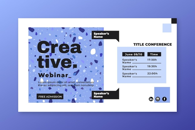 Invitación de banner de webinar creativo