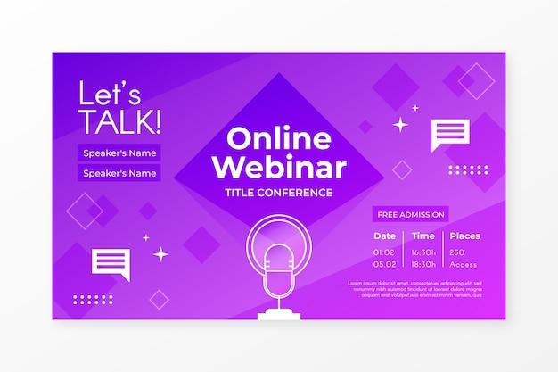 Invitación de banner webinar púrpura