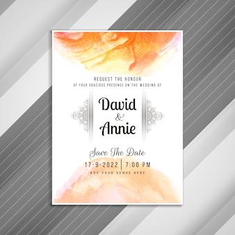 Invitación de boda abstracta elegante diseño de la tarjeta