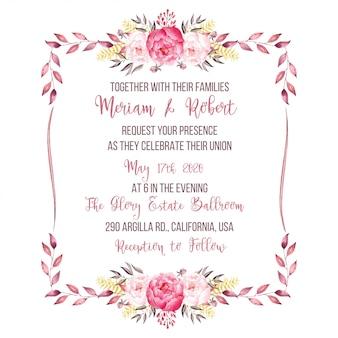 Invitación de boda acuarela