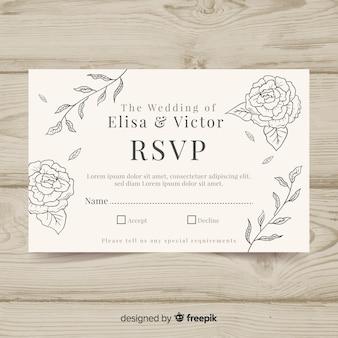Invitación de boda adorable