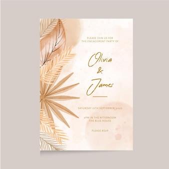 Invitación de boda boho