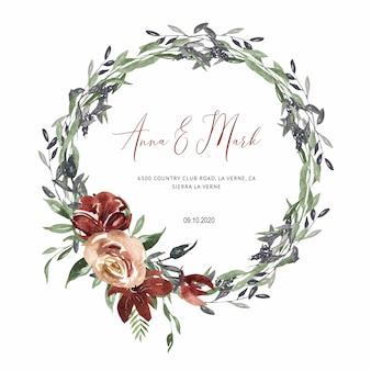 Invitación de boda de borgoña para tarjetas de boda, ahorre la fecha
