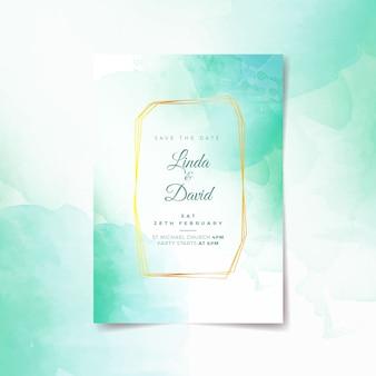 Invitación de boda caligráfica