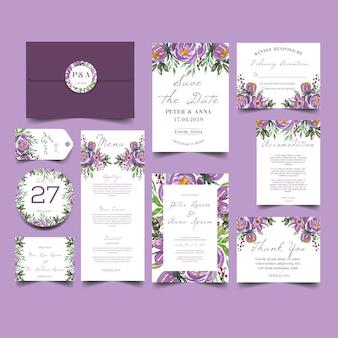 Invitación de la boda del chapoteo de los cepillos del verdor