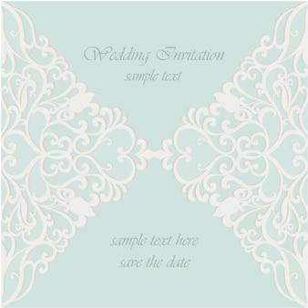 Invitación de boda con diseño de encaje