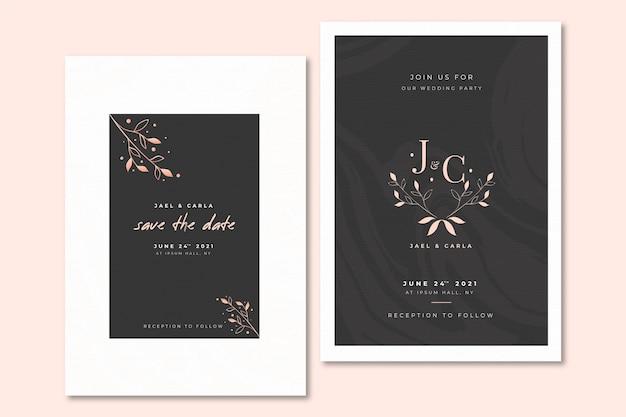 Invitación de boda elegante diseño