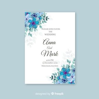Invitación de boda elegante y floral