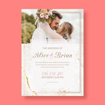 Invitación de boda elegante con foto