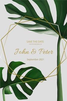 Invitación de boda elegante