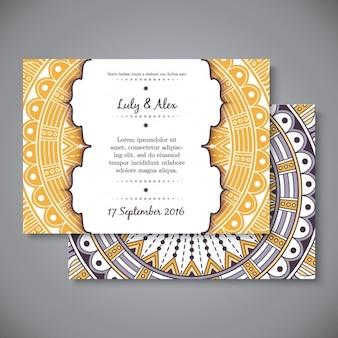 Invitación de boda de estilo boho