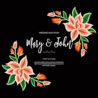 Invitación de boda floral estilo bordado de oaxaca mexico