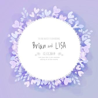 Invitación de boda floral del vintage en estilo de la acuarela.