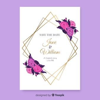 Invitación de boda floral
