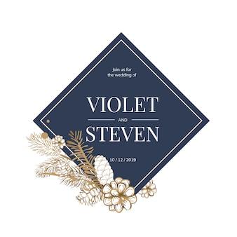Invitación de la boda floral