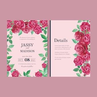 Invitación de boda con follaje romántico