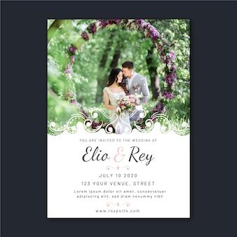 Invitación de boda hermosa con foto