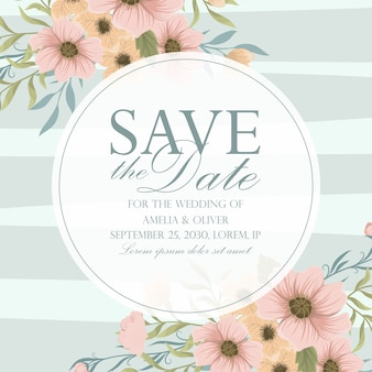 Invitación de boda. hermosas flores. tarjeta de felicitación. cuadro.