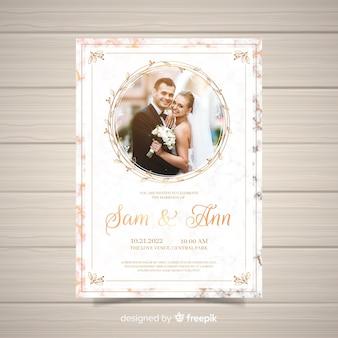 Invitación de boda con imagen