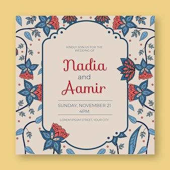 Invitación de boda india