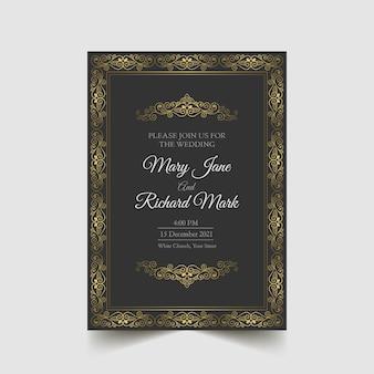 Invitación de boda de lujo guardar la fecha
