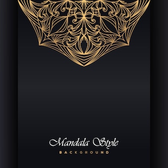 Invitación de boda de lujo mandala