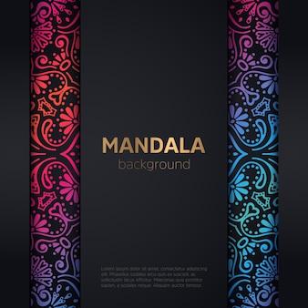 Invitación de boda de lujo con mandala