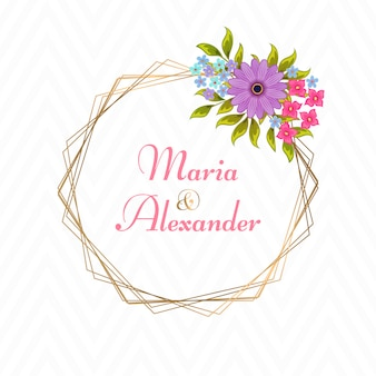 Invitación de boda de lujo de vector
