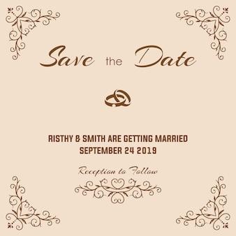 Invitación de boda de lujo