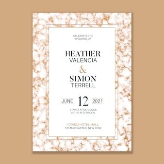 Invitación de boda de mármol