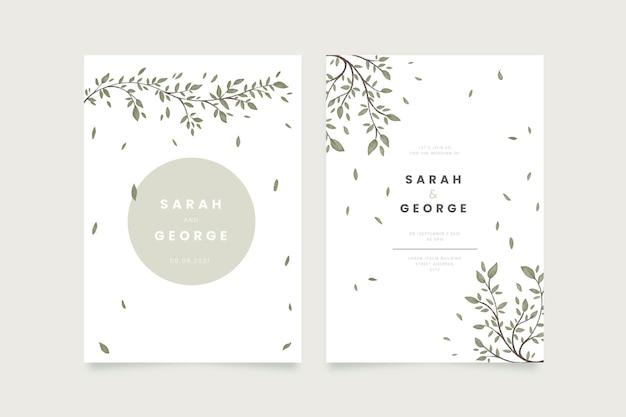Invitación de boda minimalista