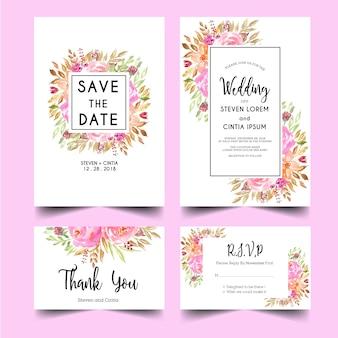 Invitación de boda moderna y dulce.
