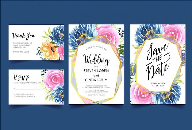 Invitación de boda moderna