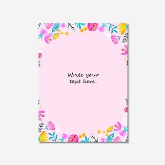Invitación de boda, o tarjeta de cumpleaños, invitación floral, tarjeta moderna.