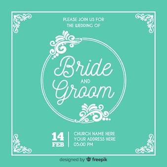 Invitación de boda ornamental para guardar la fecha