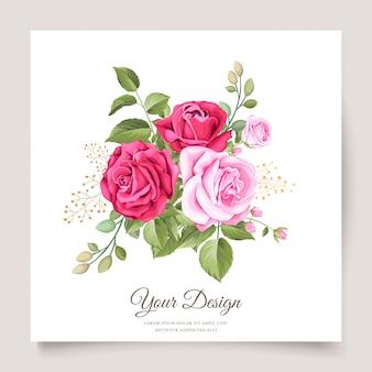 Invitación de boda con plantilla de diseño elegante