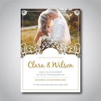 Invitación de boda con plantilla pic
